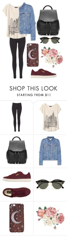 """""""small town girl in a big city"""" by thagerman46 ❤ liked on Polyvore featuring Maison Scotch, Banana Republic, rag & bone, Acne Studios, Puma and Ray-Ban"""