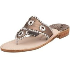 MDW SALEMetallic Jack Rogers Decent used condition broken in but when on the wear isn't really visible size 6 runs big Jack Rogers Shoes Sandals