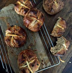 Hot Cross Bun Recipe  http://britishfood.about.com/od/easterrecipes/r/easy-hot-cross-bun-recipe.htm