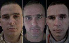 The faces of soldiers who have seen combat tell a pretty unsettling story.
