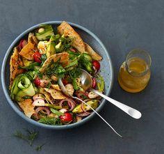 Rezept: Gemüse-Brot-Salat