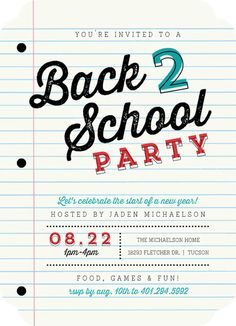 15 Back to School Party Ideas | Somewhat Simple