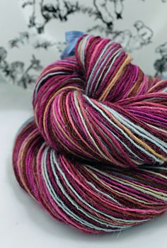 Handspun Yarn Gently Thick and Thin Single by SheepingBeauty, $38.00
