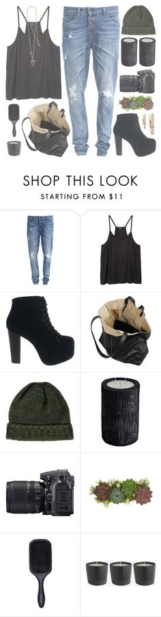"""""""Untitled #339"""" by chantellehofland ❤ liked on Polyvore featuring Object Collectors Item, Monki, Jeffrey Campbell, Proenza Schouler, SELECTED, Vascolari, Nikon, Jayson Home, Denman and Alexis Bittar"""