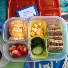 Quick and healthy school lunch packed with @EasyLunchboxes | lunch from Bentoliciouso - Instagram