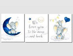 Elephant Nursery Art Boy Nursery Decor Navy Nursery Decor | Etsy#art #boy #decor #elephant #etsy #navy #nursery Elephant Nursery Girl, Navy Nursery, Baby Elephant, Nursery Art, Nursery Decor, Boy Decor, Nursery Prints, Baby Room Art, Art Wall Kids
