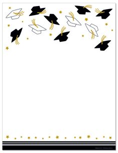 Imprintable Blank Stock – Hat Toss Letterhead (Graduation) by Masterpiece Studios (ISO) , – Invitation Ideas for 2020 Graduation Images, Graduation Templates, Graduation Invitation Cards, Graduation Cards, Graduation Wallpaper, Letterhead Paper, Black And White Balloons, Pop Stickers, Cute Birthday Gift