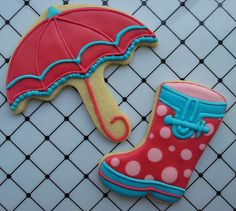 Umbrella and Rain Boot Cookies | Flickr - Photo Sharing!