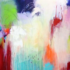 Original large abstract painting, abstract art, modern painting, purple creme green white neon orange, paintings, acrylic painting on canvas on Etsy, $421.76