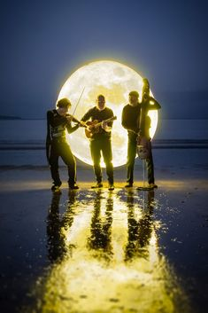 Albi and the Wolves. Photographed on an Auckland beach with our special light painting technique! These guys are seriously impressive artists, and it's a real pleasure to work with them.