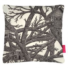 Tree Houses Cushion by Jamie Mills £35