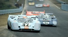 (92) Gijs van Lennep - Porsche 917K - John Wyer Automotive Engineering Ltd. - (6) Mark Donohue - Ferrari 512M - Roger Penske - Six-Hours and The Can-Am, The Glen - Can-Am Watkins Glen - 1971 Canadian-American Challenge Cup, round 4