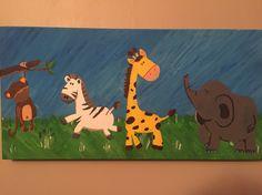 Kids animal canvas
