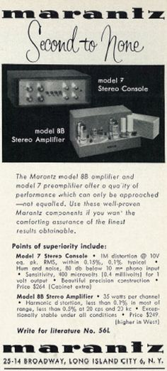Marantz magazine ad from the 1960s.