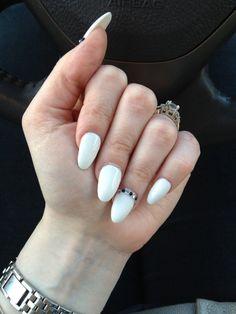 White summer almond nails :)
