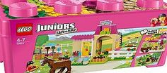 Lego Juniors Pony Farm 10674 10179501 100 Advantage card points. Go for a canter or try out one of the colorful jumps at the Pony Farm! The colorful LEGO Juniors Pony Farm has everything a horse needs, from grooming accessories to jumps a http://www.comparestoreprices.co.uk/lego/lego-juniors-pony-farm-10674-10179501.asp