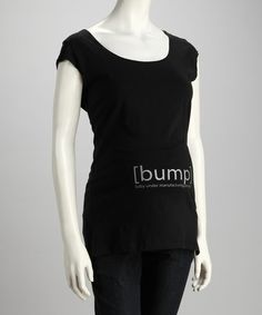Take a look at this [bump] Black & Silver Maternity Scoop Neck Tee by What To Give: The Expecting Family on #zulily today!