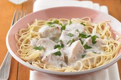 Prepare Angel Chicken in the morning and come home to slow-cooked chicken thighs in a creamy sauce. If only every meal were as easy as this Angel Chicken! Kraft Foods, Kraft Recipes, Pasta Recipes, Chicken Recipes, Dinner Recipes, Slow Cooker Huhn, Slow Cooker Recipes, Crockpot Recipes, Cooking Recipes