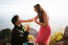 He asked her to marry him at sunset, 10,378 feet in the air. Just wow. <3