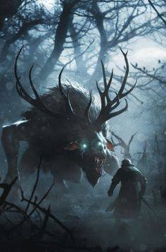 Game art 707065210233126825 - Stunning Concept Art From The Video Game The Witcher 3 By CD Projekt Red Source by Dark Fantasy Art, Fantasy Artwork, Fantasy Kunst, Red Artwork, Arte Horror, Horror Art, Fantasy Monster, Monster Art, Monster Concept Art