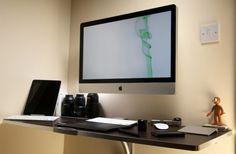 iMac workspace setup