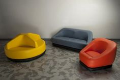 These chairs have wonderful expressions.