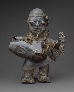 Male Warrior.  Date:     1455–1640. Geography:     Nigeria, Lower Niger River region.