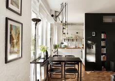 Tiny apartment in Moscow by Nastya Antonyuk | #hometour #apartment #tinyhouse #small