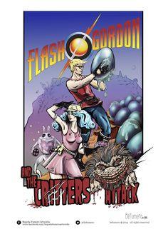 Ilustración ganadora del Primer Premio de Ilustración en el concurso por el 80 aniversario de Flash Gordon de C10 en Expocómic de Madrid 2014. @Befumero  https://www.behance.net/bfumero#