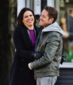 "Lana Parilla and Sean Maguire - Behind the scenes - 4 * 22 ""Operation Mongoose Part 2"" 1st April 2015"