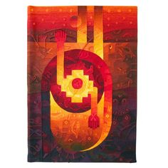 Hand Woven contemporary tapestry by Peruvian artist Maximo Laura