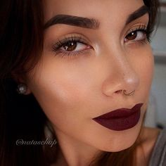 Septum + Bordeaux lipstick