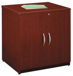 Bush Business Furniture Components Collection Wide Storage Cabinet, 29 x 29 x 23 Mahogany, Standard Delivery Service, Brown 3 Drawer Storage Unit, Door Storage, Office Storage, Storage Cabinets, Storage Shelves, Shelf, Home Office Cabinets, Home Office Furniture, Business Furniture