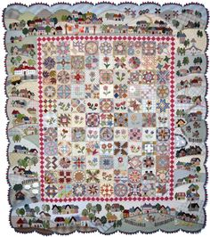 Best Hand Workmanship: My Sweet House with KIRARA by Ayako Kawakami (Japan). AQS Quilt Week, Des Moines 2016