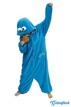 Cookie Monster Adult Onesie - Shop our entire collection of adult onesies! http://getonfleek.com
