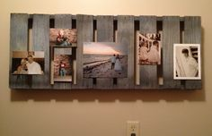 Painted pallet to display pictures Display Pictures, Display Ideas, Photography Ideas, Wedding Photography, Diy Crafts To Do, Pallet Painting, Pallet Ideas, Wood Pallets, Floating Shelves