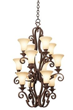 Kalco 4039ACNS01 Ibiza 12Light Foyer Antique Copper Finish >>> Check out the image by visiting the link.