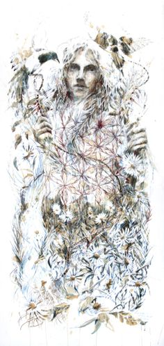 Artwork created using ink, tea and alcohol on bockingford watercolour paper by Carne Griffiths Calligraphy Ink, Angel Statues, Conceptual Art, Artist At Work, Watercolor Paper, Tattoo Inspiration, Fascinator, In This World, Art Reference