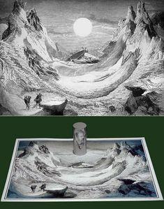 anamorphic art by Istvan Orosz