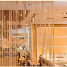 Shiny Tassel Flash Silver Line String Curtain Window Door Divider Sheer Curtains Valance Home Decoration 0.95x1.95m