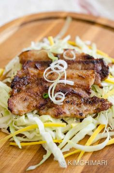Miso Pork Belly marinade that makes pork belly extra tender and delicious. Serve green onions cabbage slaw and rice with gochujang sauce! Pork Belly Recipes, Spicy Recipes, Asian Recipes, Beef Recipes, Cooking Recipes, Healthy Recipes, Hawaiian Recipes, Weeknight Recipes, Gourmet