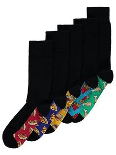 5 Pack Feel Fresh Food Socks, read reviews and buy online at George at ASDA. Shop from our latest range in Men. Add a playful touch to your daily dressing ro...