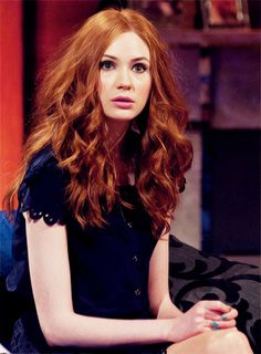Karen Gillan. Her Hair! I still can't believe she shaved it off, but she's gorgeous either way.