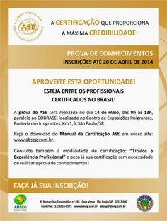 BRADO CONSULTORIA E SERVIÇOS LTDA.: ASE CERTIFICAÇÃO ABSEG
