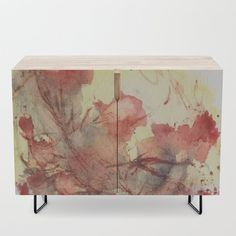Small furniture by StudioRS Designs . cabinet doors printed with watercolor artwork