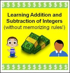 """FREE MATH LESSON - """"Adding and Subtracting Integers"""" - Go to The Best of Teacher Entrepreneurs for this and hundreds of free lessons. 7th - 10th Grade http://www.thebestofteacherentrepreneurs.net/2017/03/free-math-lesson-adding-and-subtracting.html"""