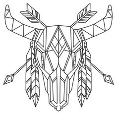 25 Ideas embroidery designs geometric urban threads for 2019 New Embroidery Designs, Paper Embroidery, Embroidery Patterns, Embroidery Stitches, Colouring Pages, Coloring Books, 3d Zeichenstift, Hilograma Ideas, Tattoo Motive