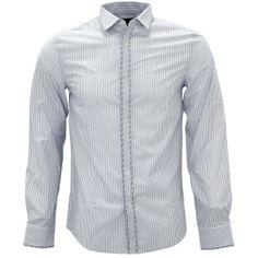 Shirtacy Formal Blue Grey Stripe Shirt by Shirtacy HKD$249 #formalshirts #businessattire #workshirt #mensfashion #menswear #hk #hongkong #onlinestore #onlineshopping #hkshop #stylish #stripe #shirtacy