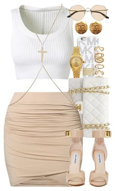 """Untitled #1384"" by power-beauty ❤ liked on Polyvore featuring MICHAEL Michael Kors, Alaïa, Forever 21, Rolex, Chanel, by TI MO, Steve Madden, River Island and The Row"