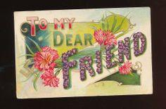c1910 Good Luck Swastika Postcard Embossed Carnations -ooo238